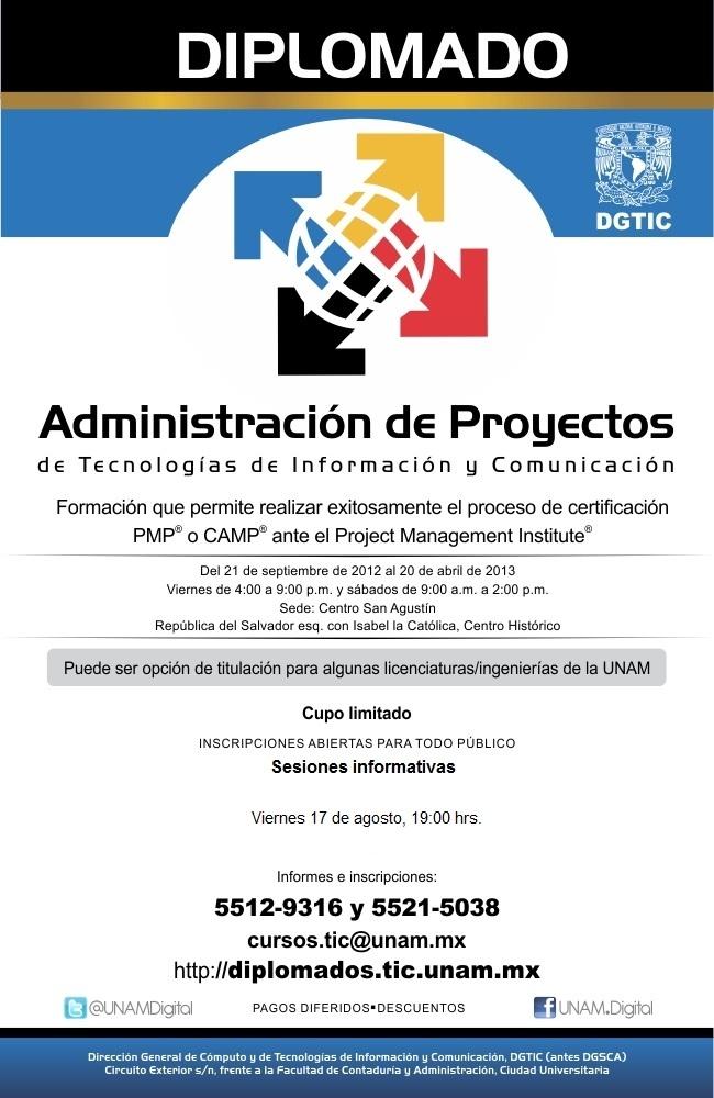 Diplomado de administraci n de proyectos tic udual press for Oficina de proyectos