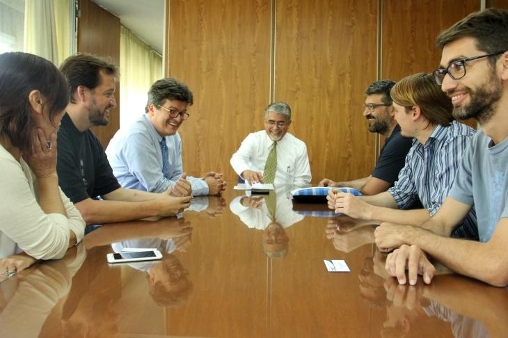Autoridades de la UDUAL en reunión con Artistas Visuales