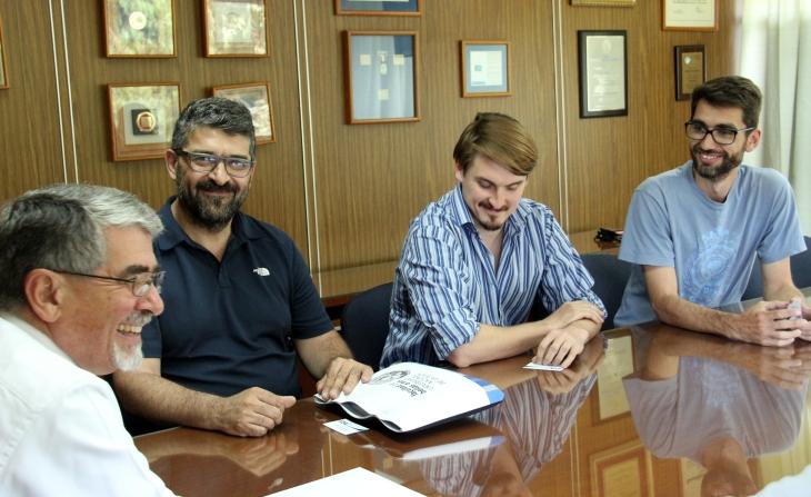 De izquierda a derecha: Roberto Escalante, Carlos Coppa, Erik Markowski y Domingo Alagia